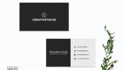 Simple Black Minimalist Business Card Template