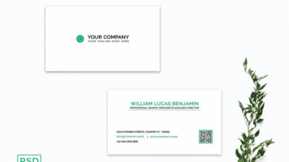 Simple Green Business Card Template V2