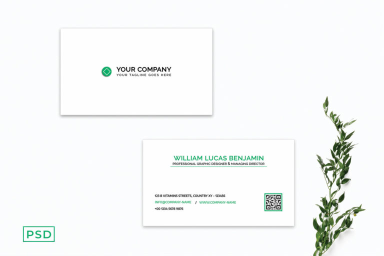 Preview image of Simple Green Business Card Template V2