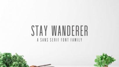 Stay Wanderer Sans Serif Font Family Pack