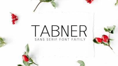 Tabner Sans Serif Typeface