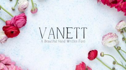 Vanett Handwritten Font