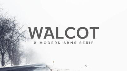Walcot Modern Sans Serif Font