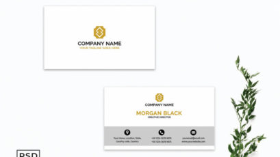 White Creative Business Card Template V4