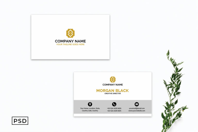 Preview image of White Creative Business Card Template V4