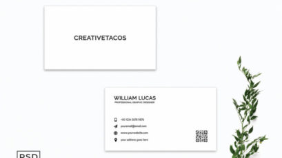 White Creative Minimalist Business Card Template V2