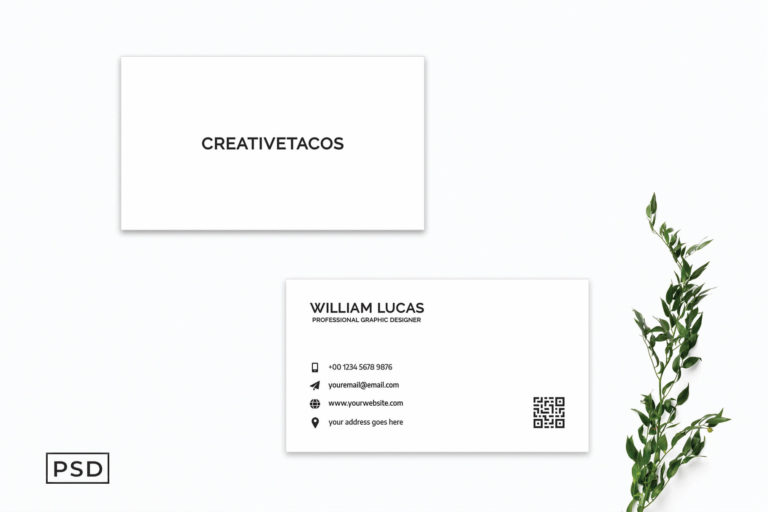 Preview image of White Creative Minimalist Business Card Template V2
