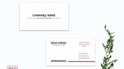 White Minimalist Business Card Template V2