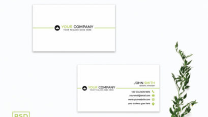 White Simple Business Card Template