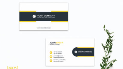 Yellow Creative Business Card Template V2