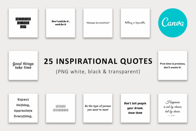 Preview image of 25 Inspirational Quotes