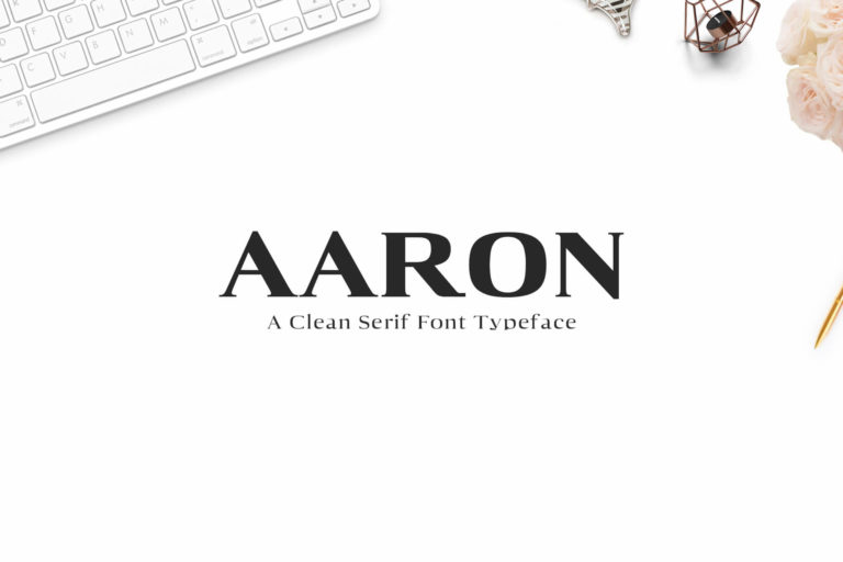 Preview image of Aaron Serif Font Family