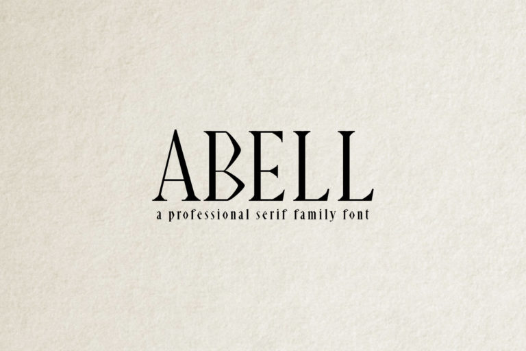 Preview image of Abell Serif Font Family