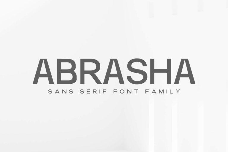 Preview image of Abrasha Sans Serif Font Family