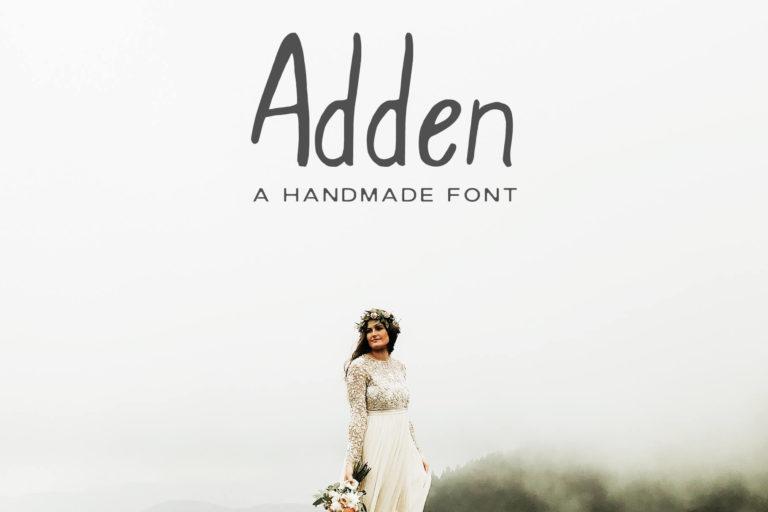 Preview image of Adden Handmade Sans Serif Font