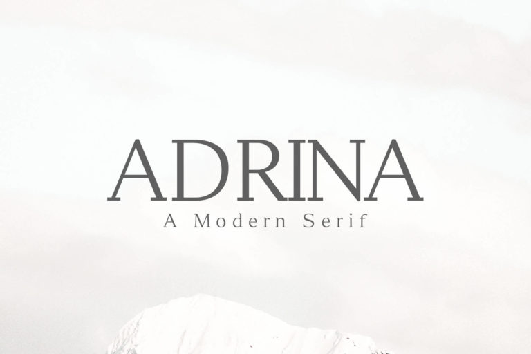 Preview image of Adrina Modern Serif Font Family