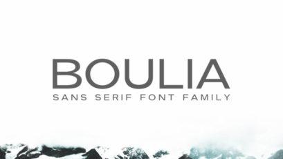 Boulia Sans Serif Font Family