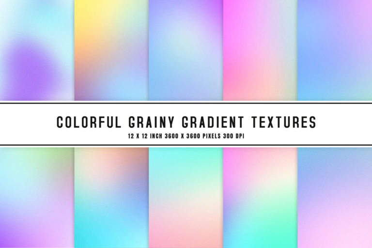 Preview image of Colorful Grainy Gradient Textures