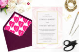 Last preview image of Elegant Pink Marble Wedding Invitation Template