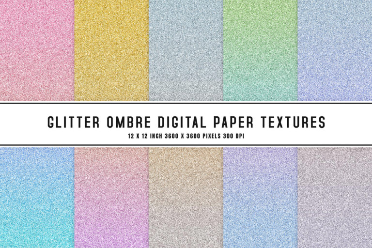 Preview image of Glitter Ombre Digital Paper Textures