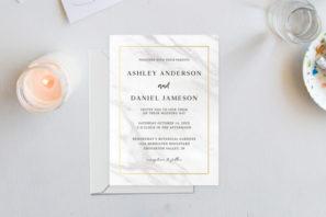 Marble Classic Wedding Invitation Template