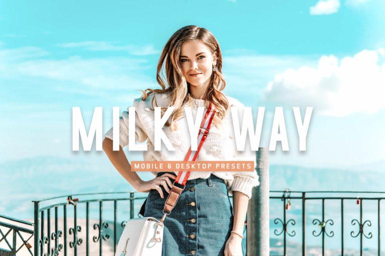 Preview image of Milky Way Mobile & Desktop Lightroom Presets