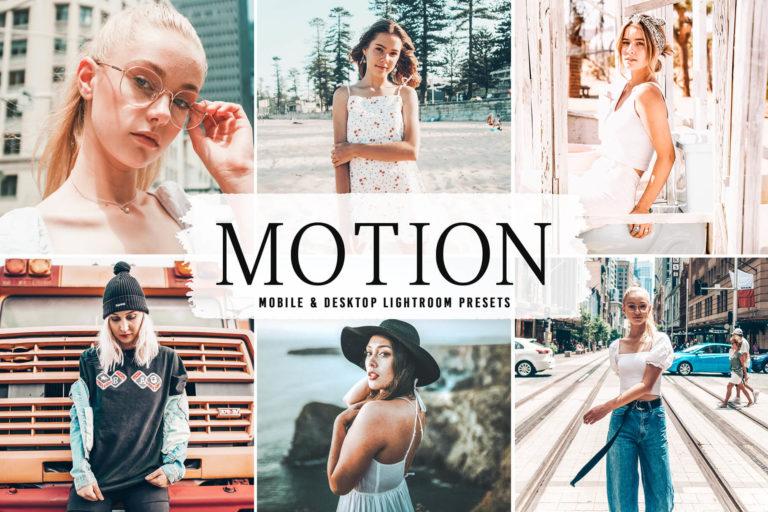 Preview image of Motion Mobile & Desktop Lightroom Presets