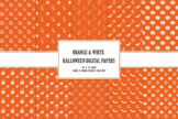 Last preview image of Orange & White Halloween Digital Papers