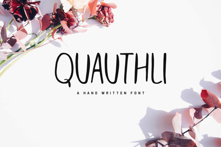 Preview image of Quauthli Handwritten Font
