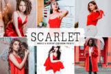 Last preview image of Scarlet Mobile & Desktop Lightroom Presets