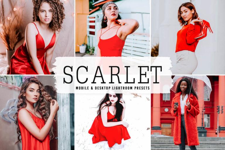 Preview image of Scarlet Mobile & Desktop Lightroom Presets