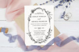 Last preview image of Whimsical Wreath Wedding Invitation Template