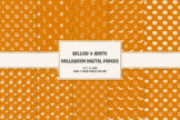 Last preview image of Yellow & White Halloween Digital Papers