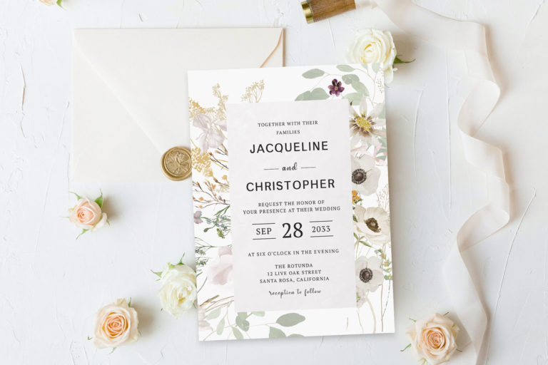 Preview image of Bridal Shower Green Foliage Watercolor Invitation