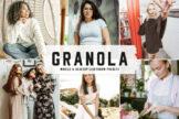 Last preview image of Granola Mobile & Desktop Lightroom Presets
