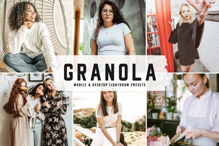 Preview image of Granola Mobile & Desktop Lightroom Presets