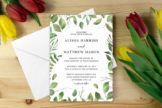 Last preview image of Green Foliage Wedding Invitation Template