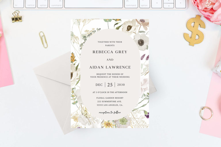 Preview image of Spring Peony Casual Wedding Invitation