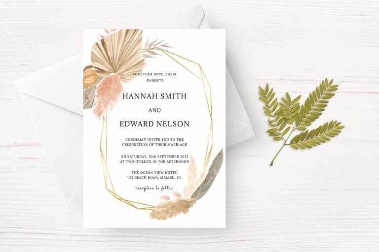 Preview image of Tropical Palms Foliage Wedding Invitation