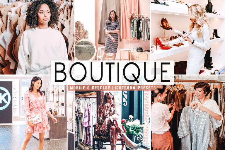 Preview image of Boutique Mobile & Desktop Lightroom Presets