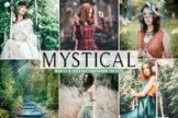 Last preview image of Mystical Mobile & Desktop Lightroom Presets